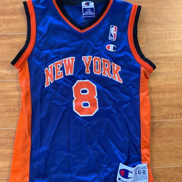 new arrival 1fb20 a6fe7 Vintage New York Knicks Champion Jersey